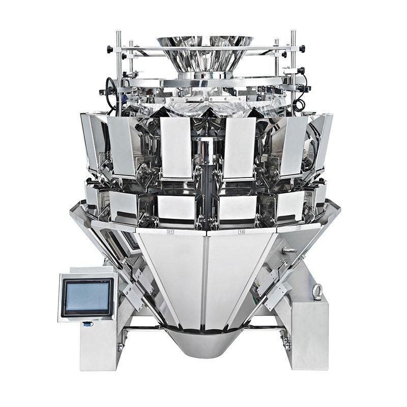 Machine d'emballage multi-fonctions pour peseuses associatives multi-têtes