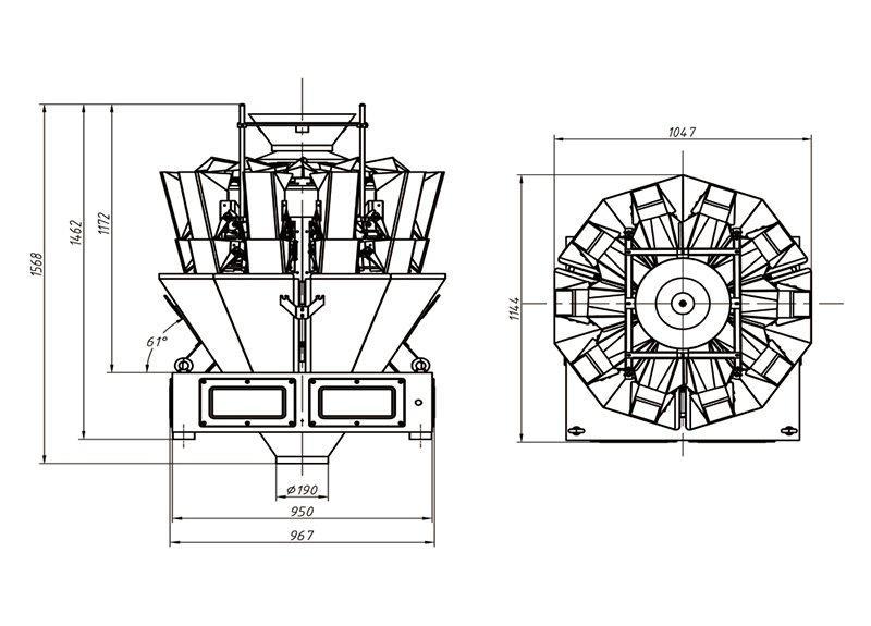 Pratique machine d'emballage en acier avec haute qualité pour matériaux de haute viscosité