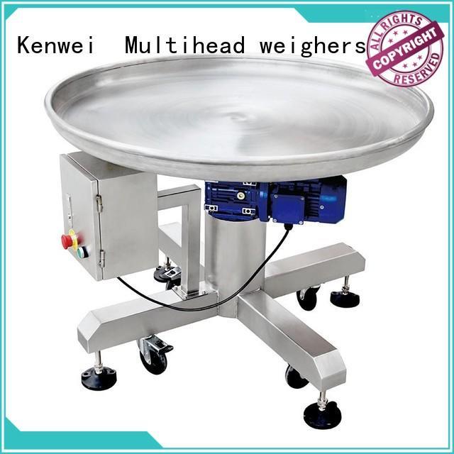 Proveedor de sistema de transportador de marca Kenwei con acabado rotativo inclinado