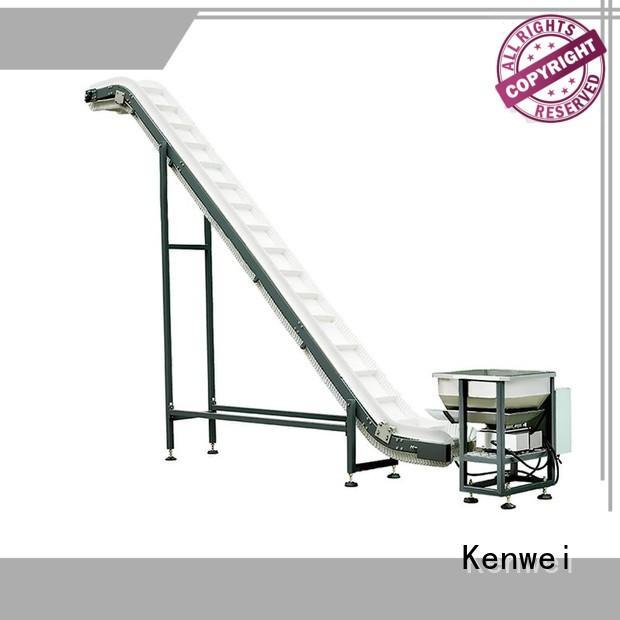 Plataforma de trabajo de transportador de embalaje Sistema de transportador de marca Kenwei