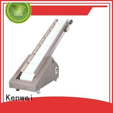Sistema de transportador de acabado inclinado transportador rotativo de la marca Kenwei