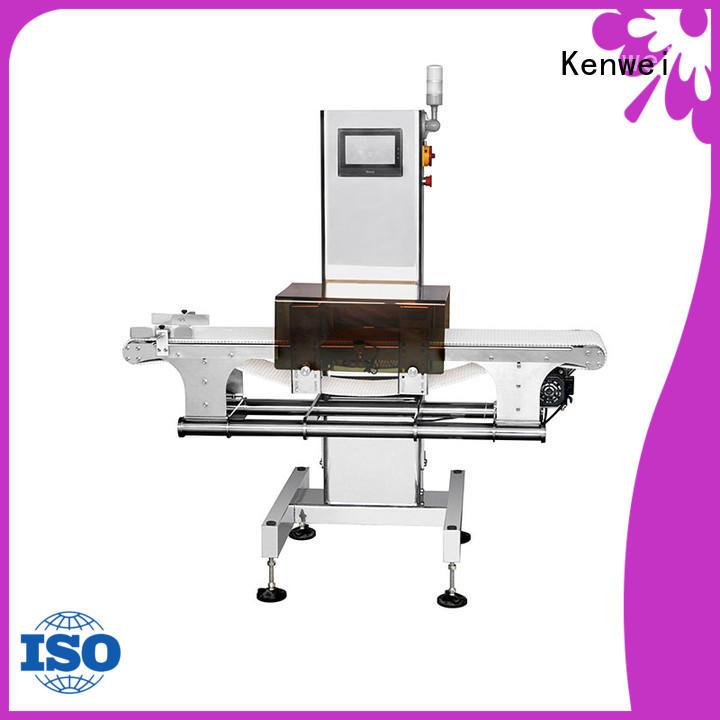 chemical horizontal foil Kenwei Brand meat metal detector manufacturer