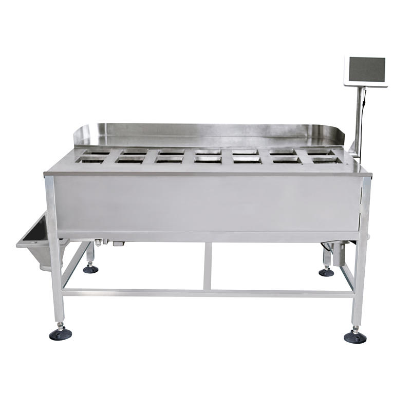 Semi-automatic manual weigher for packing seafood machine