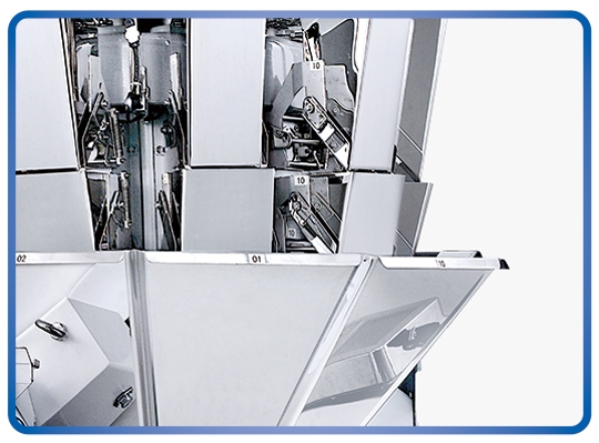 Kenwei -1g 10 Heads Carbon Steel Multihead Weigher 1625l | Food Weight Scale Company-4