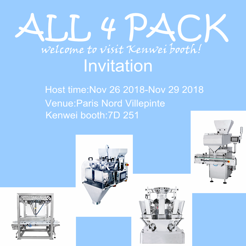 Kenwei -Kenwei Invites You To All 4pack Paris 2018 | Bag Sealing Machine