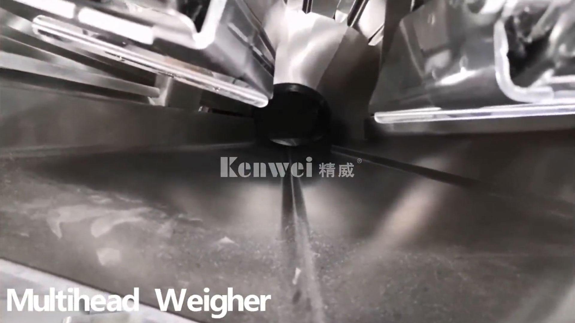 Machine de pesage et d'emballage verticale standard pour pesée à boucle