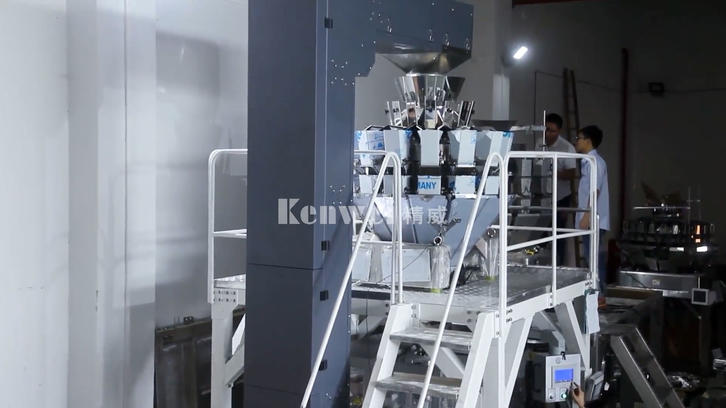 The rice packing system of multi-mouth feeder weigher