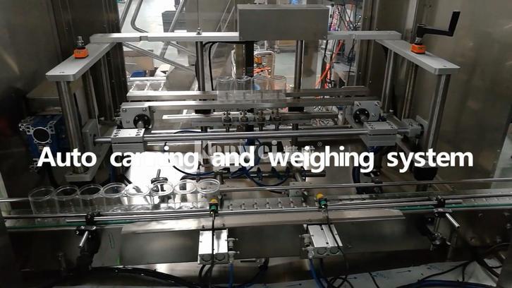 Mise en conserver automatique et système de pesage