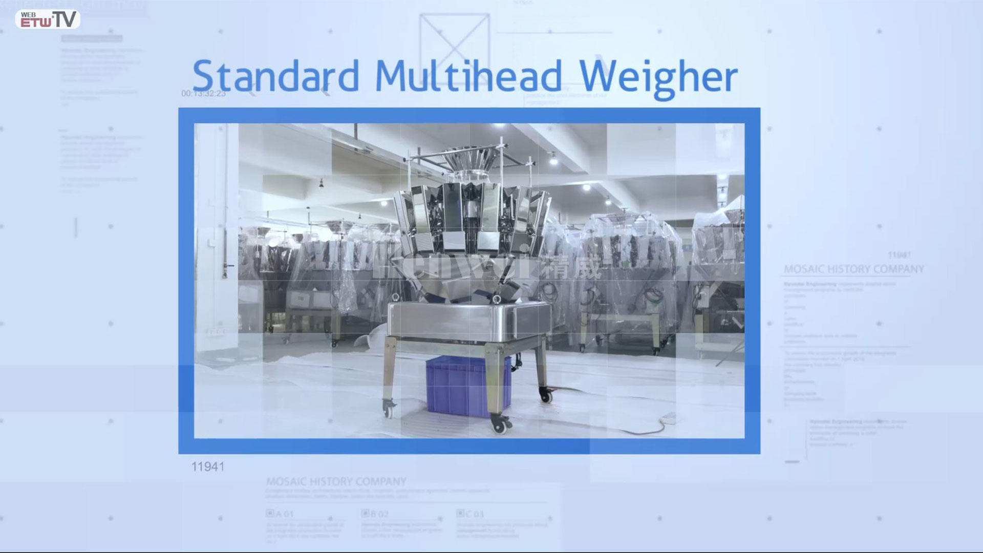 Standard multihead weigher from kenweigh