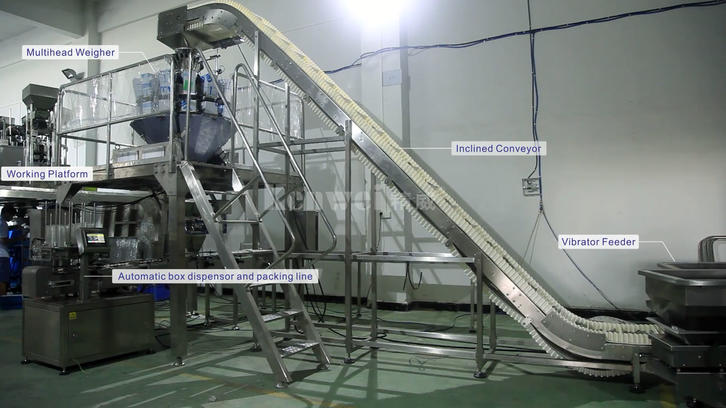 Machine de pesage et d'emballage automatique