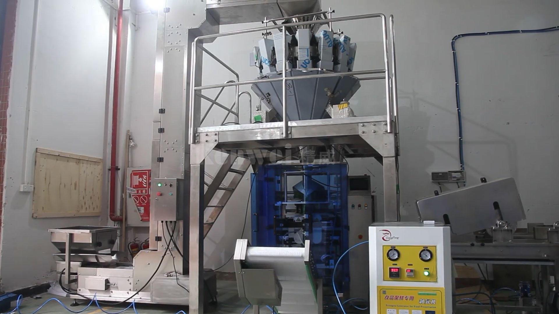 Sistema de embalaje automático de alta calidad con empaquetadora de arroz