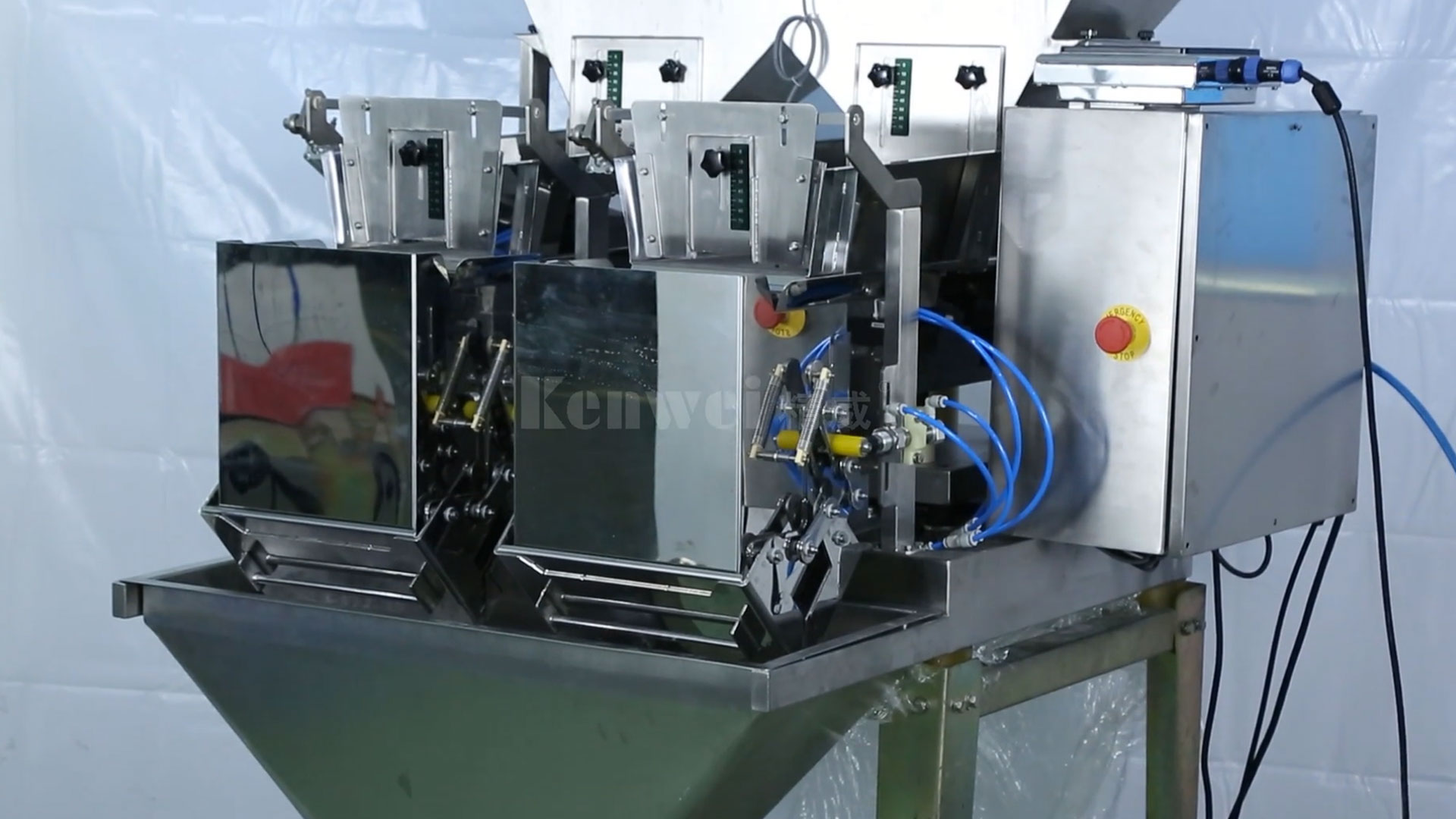 Kenwei-2 Head Linear Weigher for Plastic Particles