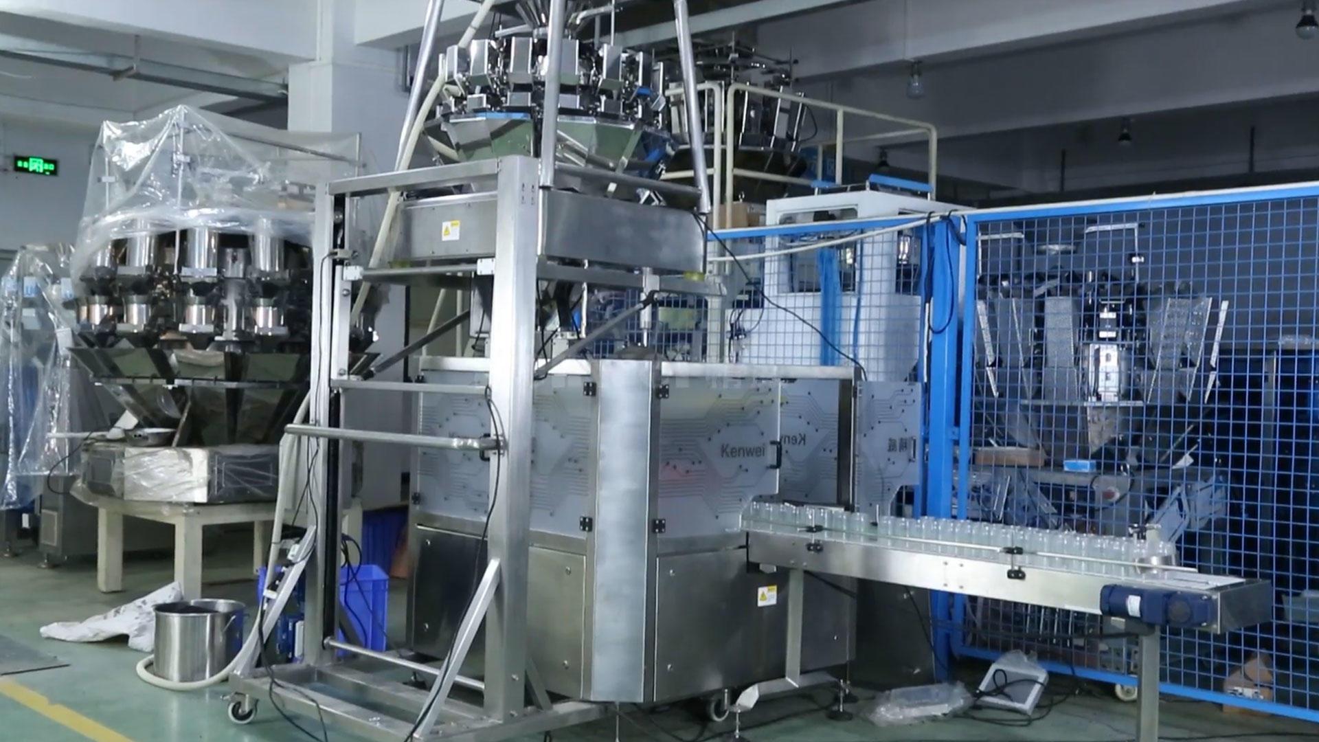 Sistema de máquina de llenado y embalaje automático