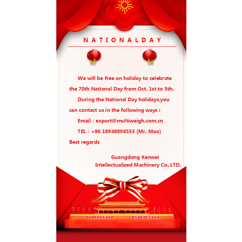 Kenwei National Day Holiday Notice