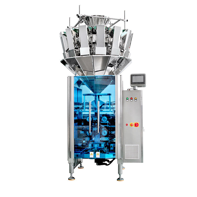 How does the vertical packing machine match the combination scale?
