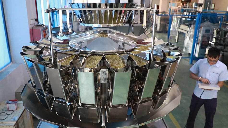High speed 20 heads two output multihead weigher