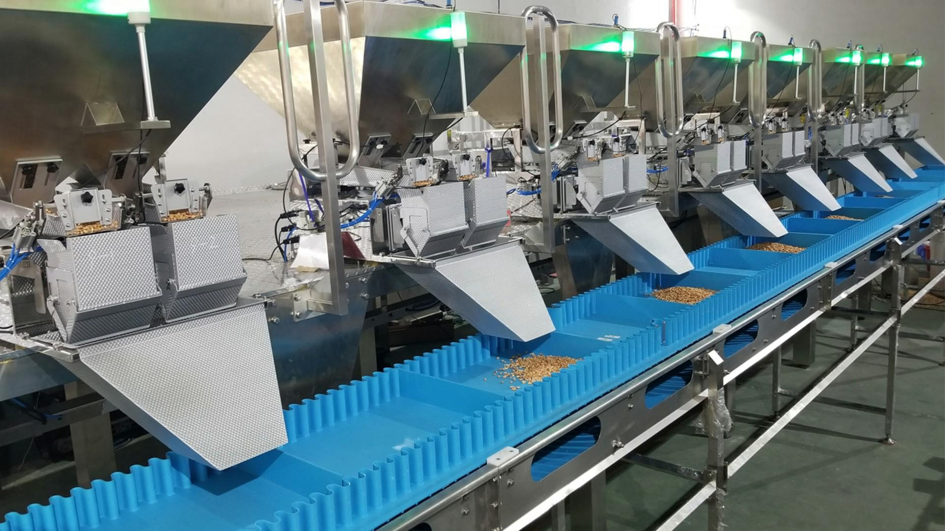 Multiple linear weigher mixing formula weighing system