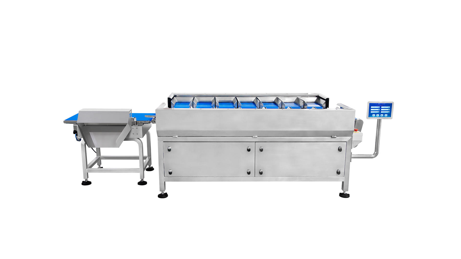 Semi automatic 12 head manual belt weigher