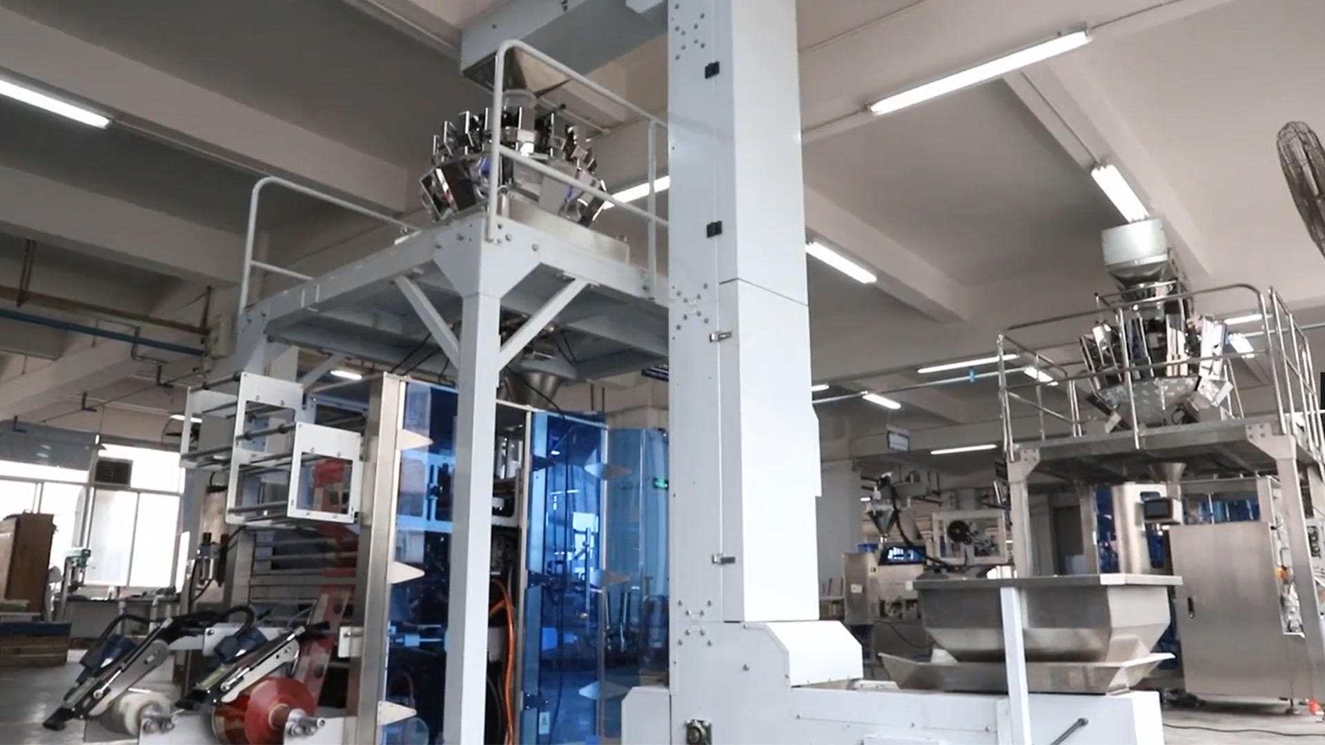High speed rice packaging machine with Double discharge outlet