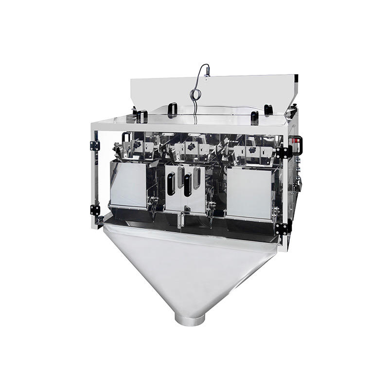 3 tête linéaire peseur machine d'emballage pour le pesage de petits granules