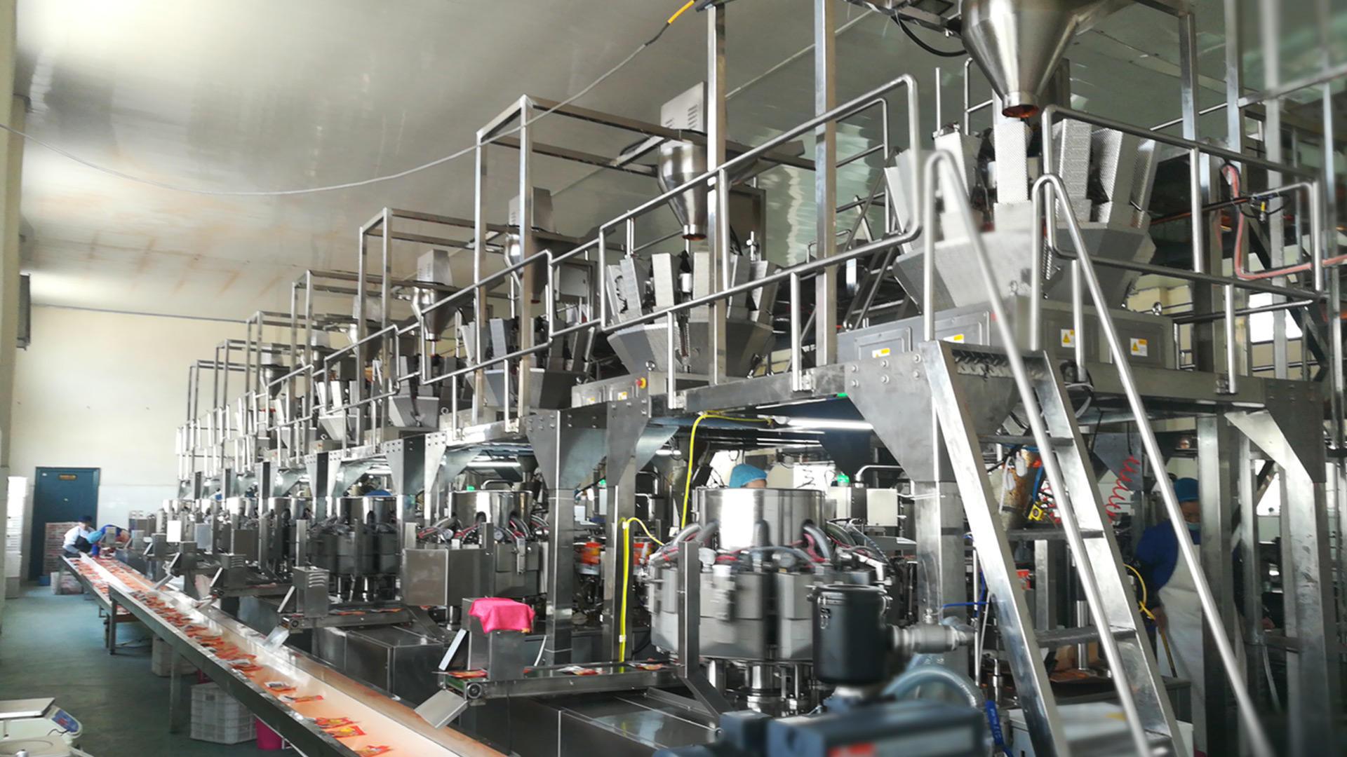 Máquina de envasado con pesaje personalizada para alimentos picantes para ensacar