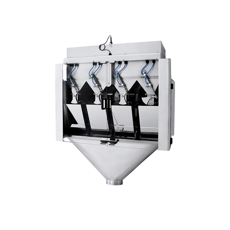4 head high speed linear weigher for weighing granules