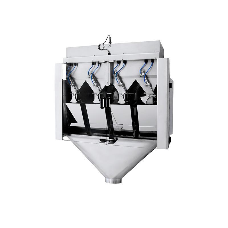 Высокоскоростной линейный дозатор с 4 головками для взвешивания гранул