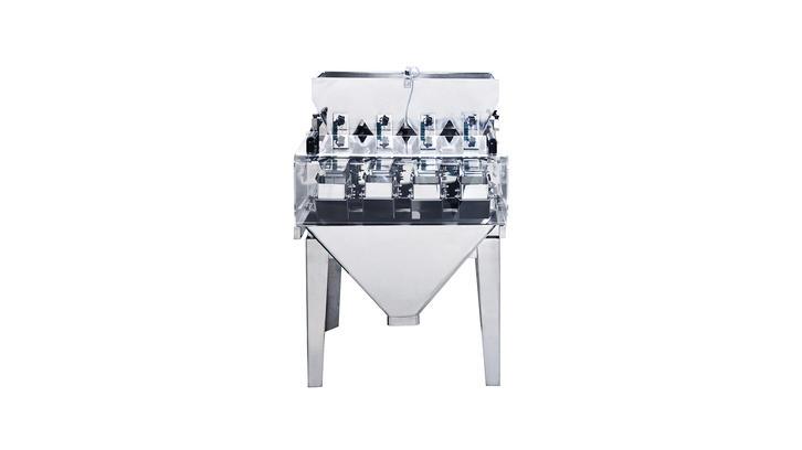 Миниатюрный линейный дозатор с 4 головками и бункером 0,5 л JW-AXS4