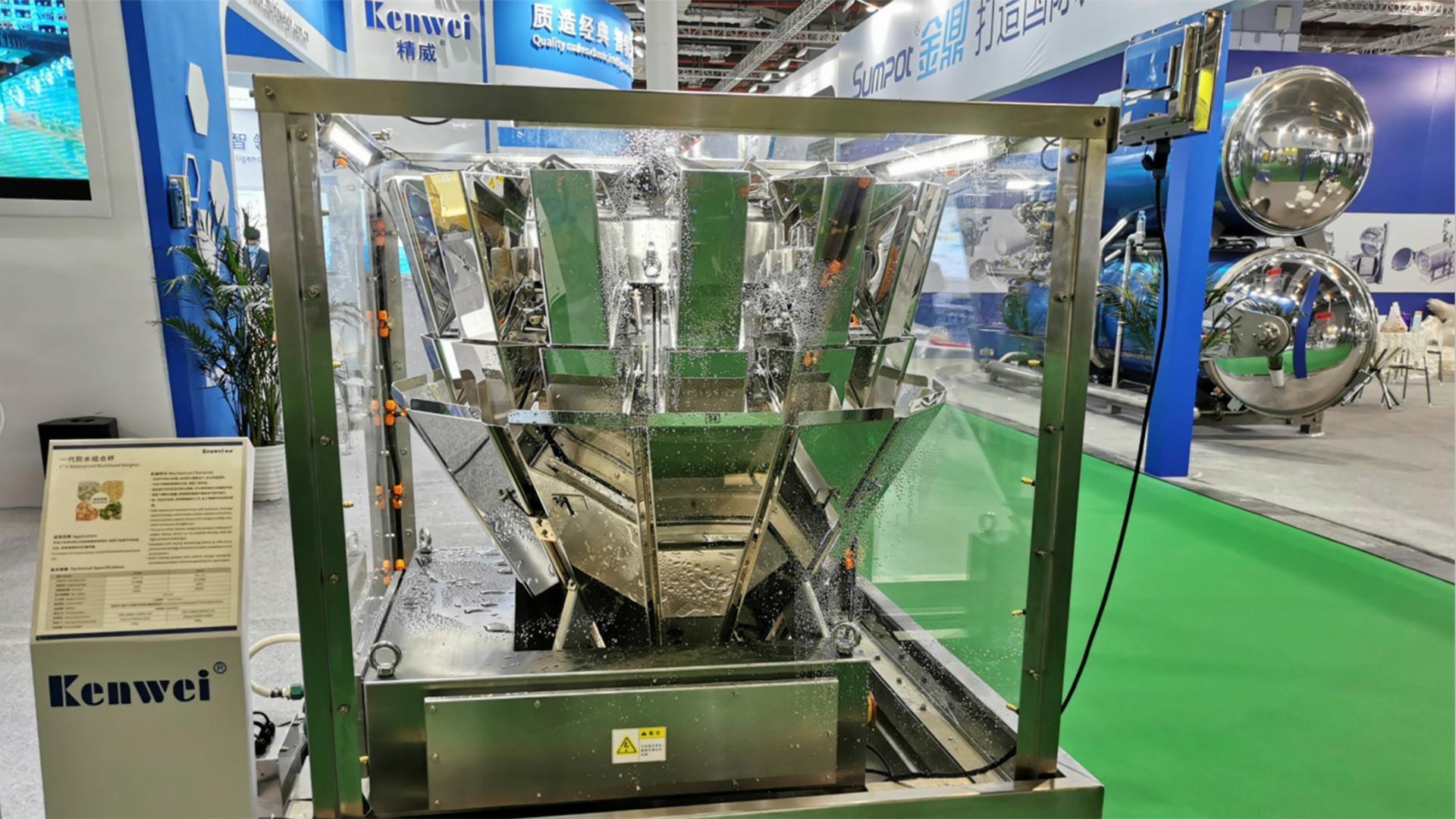 Pesadora multicabezal de 14 cabezales (1,6 / 2,5 litros) IP66 a prueba de agua
