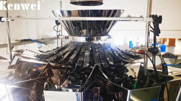 Máquina de embalaje pre-hecha para pesar y embalar plástico.