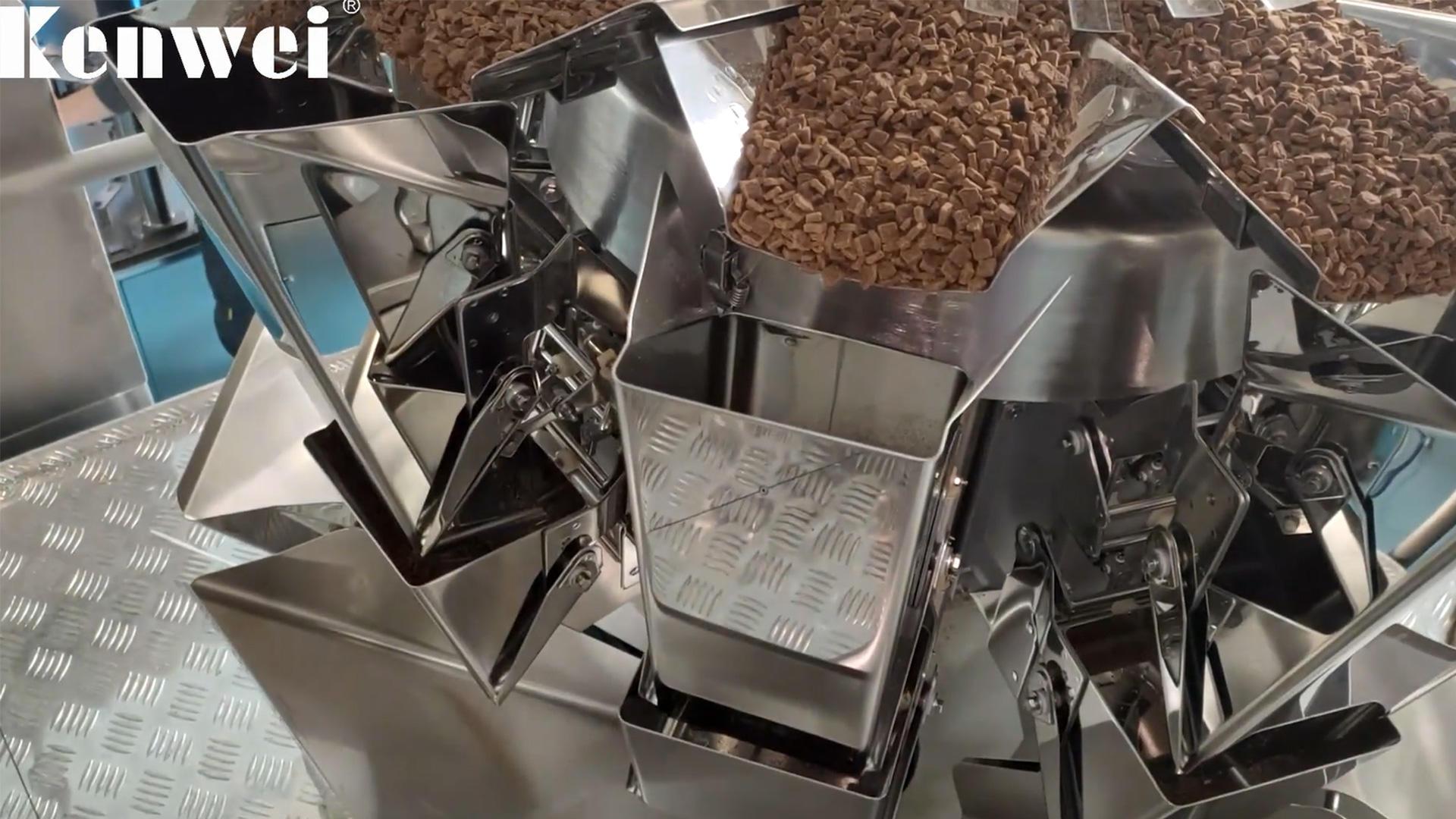 Précision automatique de la machine d'emballage de nourriture de chat de 60g ± 0,5 g
