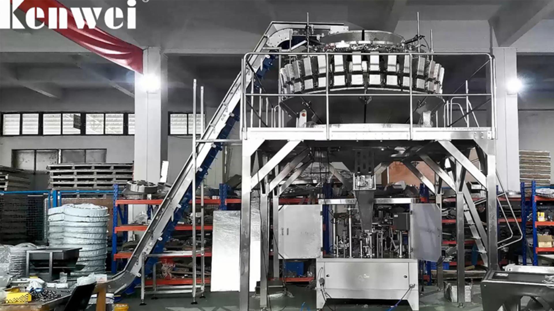 32 Tête 5 en 1 Mélange Machine à emballer Multihead Multihead pour aliments congelés