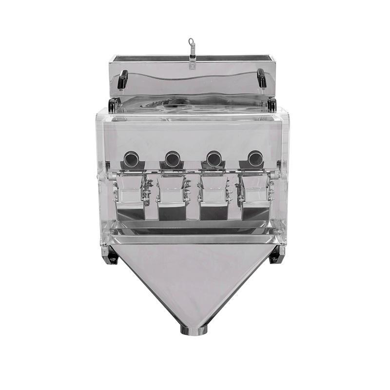 Mini 4 Heads Pipe Type Linear Weigher Machine