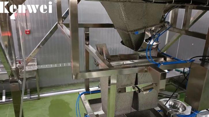 Máquina de embalaje de pesaje múltiple para pescar pescado de freír