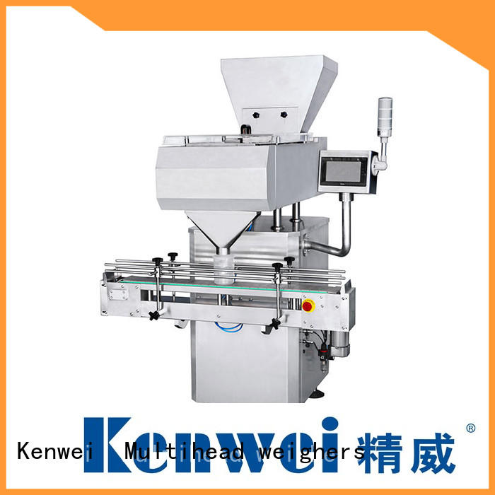 automatic two stage pill counter machine double channel Kenwei Brand company