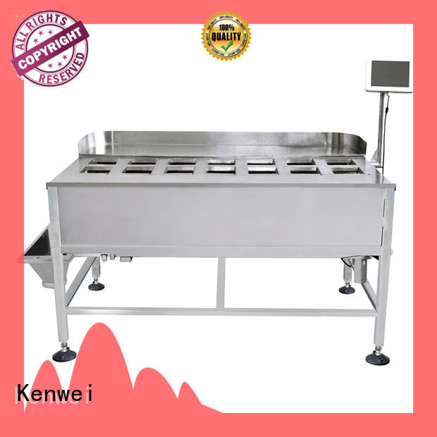 Báscula de peso de alimentos congelados Kenwei con sensores de alta calidad para materiales con aceite
