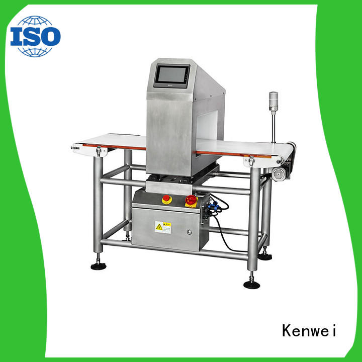 meat metal detector horizontal paper packaging Kenwei Brand company